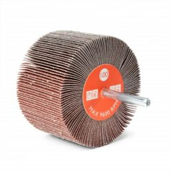 CLOTH ABRASIVE FLAP WHEELS WITH SHAFT