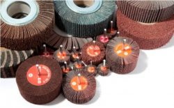ABRASIVE FLAP WHEELS WITH SHAFT